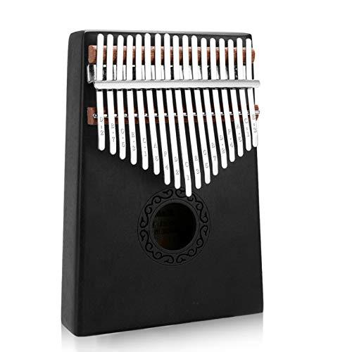 Tocawe Kalimba Marimba Mini 17 Schlüssel Daumenklavier Musikinstrumente Massivem Mahagoni Holz Körper Finger Klavier Kalimba Mit Melodie Hammer Für Erwachsene Kinder Anfänger (Schwarz)