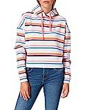 Tommy Jeans Tjw Bxy Crop Stripe Hoodie Sudadera, Gris Plateado Htr/Multi, XS para Mujer