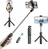 Selfie Stick TripodMonzeen Bluetooth Selfie Stick with Wireless Remote3 in 1 Extendable Selfie Stick for iPhone 11/11 pro/X/8/8P/7/7P/6s/6, Samsung Galaxy S9/S8/S7/Note 9/8, Huawei and More