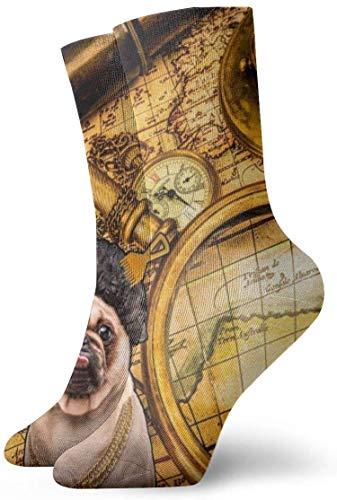 Brújula Telescopio Mapa antiguo Reloj de bolsillo Ligero Transpirable Ventilación Calcetín de tobillo Calcetines deportivos Tobillo Atlético Correr Deportes Calcetines casuales para mujeres Hombres