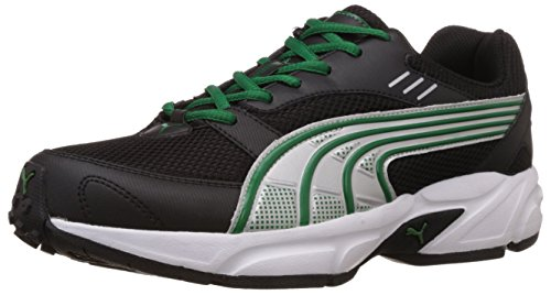 Puma Men's Pluto DP Black-Amazon-Silver Running Shoes - 8...