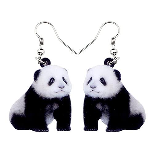OTXA Acrilico Unico Carino Orecchini Panda Pendente Grande Lungo Animale Gioielli Donna Accessori