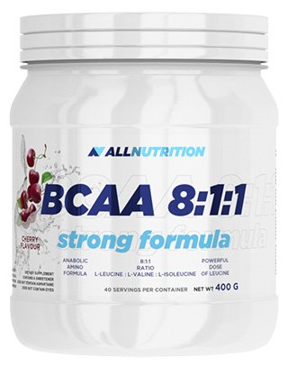 All Nutrition Strong Formula 8-1-1 BCAA Amino Acid Powder for Muscle Bodybuilding, Cola