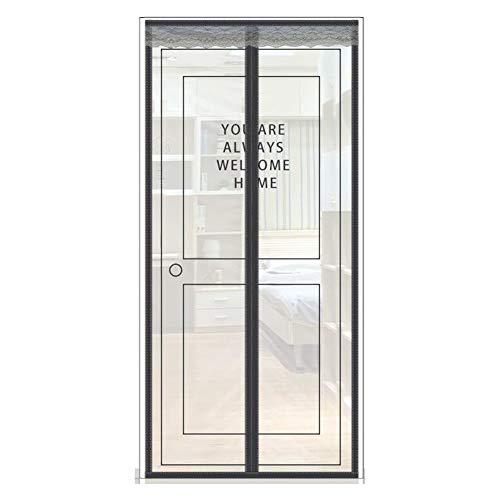 Anti-muggenbescherming, magnetisch, tegen muggen, insecten, zwart gordijn, magnetische aansluiting, deurdisplay ventilatie