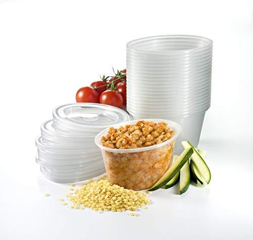 Mummy Cooks - Lot de 20 boites de conservation avec couvercle (180 mL) - Sans Bisphénol A