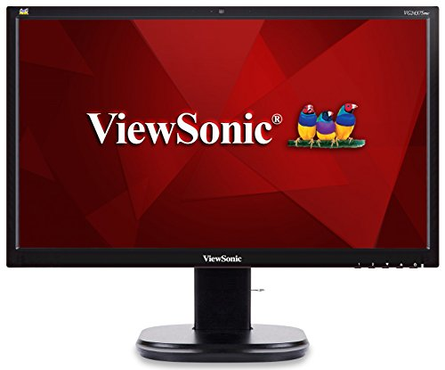 Viewsonic VG2437SMC 59,9 cm (24 Zoll) Business Monitor (Full-HD, MVA-Panel, DP, Lautsprecher, Höhenverstellbar, USB Hub, Webcam) Schwarz