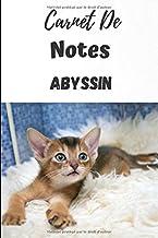 Carnet De Notes L'Abyssin: Carnet de notes 6x9 pouces personnalisé de 100 pages lignées|Une belle idée de cadeau pour les amoureux des chats