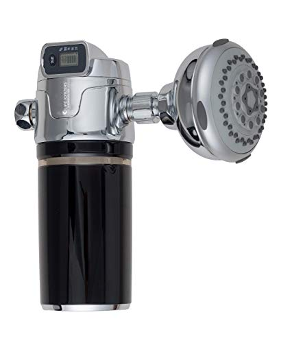 Life Ionizer's Double Filtration Shower Filter - Removes 99% of Chlorine, Toxins, Contaminants Using Activated Carbon Fiber (Without Shower Head)