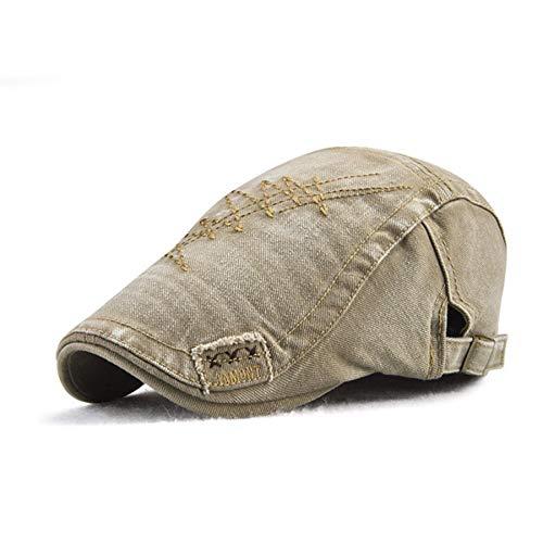 AROVON Nueva primavera boina sombrero hombres gorra plana para las mujeres verano algodón pico sombrero Newsboy visors boina gorra ajustable casquillo Homme