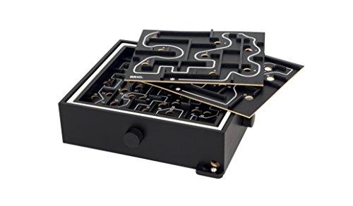 BRIO  34040 - Labyrinth mit Übungsplatten, schwarz