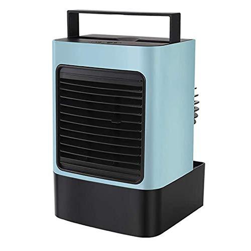 RETYLY Ventilador de Aire Acondicionado Purificador de Aire Ventilador de RefrigeracióN por Agua LáMpara de Calentamiento de Escritorio Ventilador de Mesa de RefrigeracióN Azul