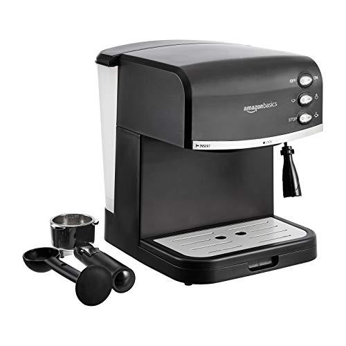 Amazon Basics – Cafetera para café espresso con espumadora de leche