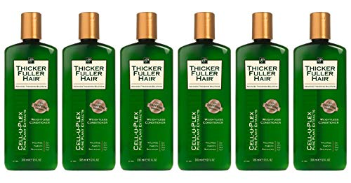 Thicker Fuller Hair Conditioner Weightless 12 Ounce (355ml) (Pack of 6)