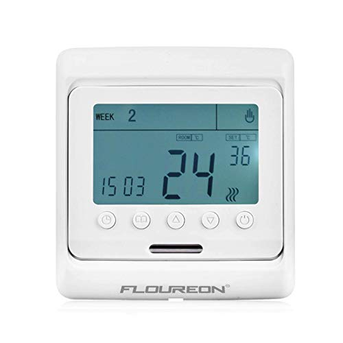 E52 Digitale opbouwthermostaat voor vloerverwarming kamerregelaar met weekprogramma