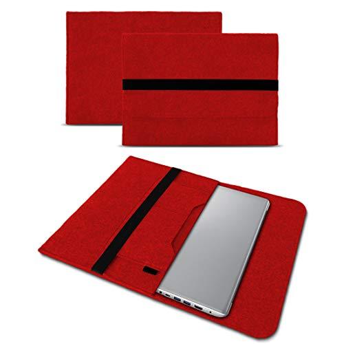 UC-Express Sleeve Hülle für Lenovo Thinkpad Yoga 370 Tasche Filz Notebook Cover Laptop Hülle, Farbe:Rot