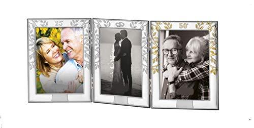 DOCOLASTRA Marco Triple de fotografías de Bodas de Oro