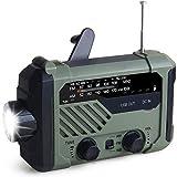 Mrkyy Radio de emergencia de manivela de mano, radio solar de 2000 mAh,...