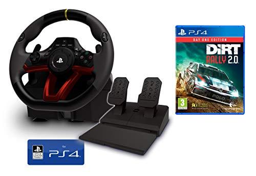 Volante y Pedales PS4 Inalámbrico [Nuevo Modelo] Licencia Oficial Sony Playstation 4 + Dirt Rally 2.0