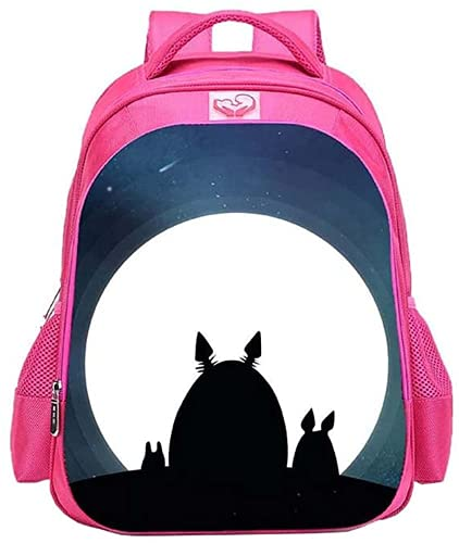 Mochila escolar Anime My Neighbor Totoro para niños y niñas, diseño de dibujos animados, mochila ligera de gran capacidad (TOTORO-1,13 pulgadas (guardería)