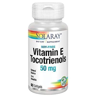 Solaray Vitamin E Tocotrienols 50mg   Healthy Cardiovascular & Brain Function Support   Soy Free   50ct