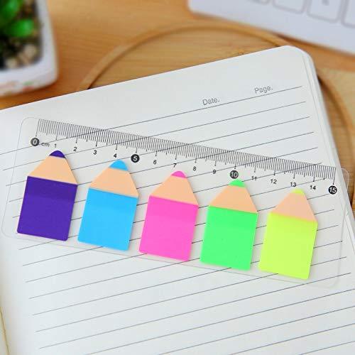 ZNXXJBCZ Merk Kleurrijke Sticker Liniaal Ontwerp Emoji Smile Grappige briefpapier Sticky Opmerkingen Bladwijzer Linialen Kinderen Studie School Kantoorbenodigdheden