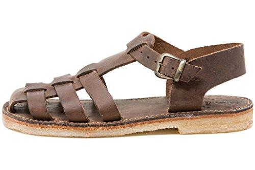 Duckfeet Ringkobing Unisex-Sandale aus Leder, Braun (Cocoa), 40 EU