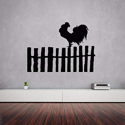 LLLYZZ muurstickers, motief: vogelvlag, Hahnhof, muurstickers, Aldea, hek design, mooie boerderij, muurtattoo, vinyl, 57 x 77 cm