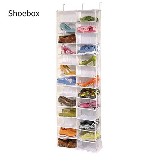"Breathable Polypropylene Shoe Holder for Closet 5 /½/"" x 10 /½/"" x 54/"" ZO-NW202 Java ZOBER 10-Shelf Hanging Shoe Organizer 10 Mesh Pockets for Accessories"