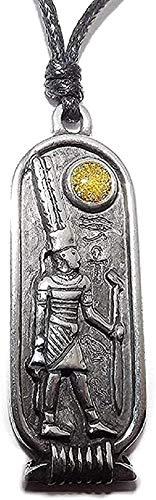 NC122 Collar para Hombres y Mujeres, Regalos, Colgante de Confianza egipcia, Collar de astrología de la Suerte