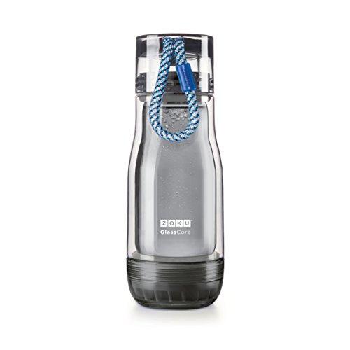 Zoku Glas Core Trinkflasche 12-fluid ounces Active, Blue
