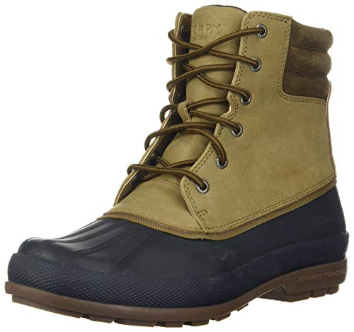 Sperry Mens Cold Bay Boot Boots, Taupe/Navy, 10