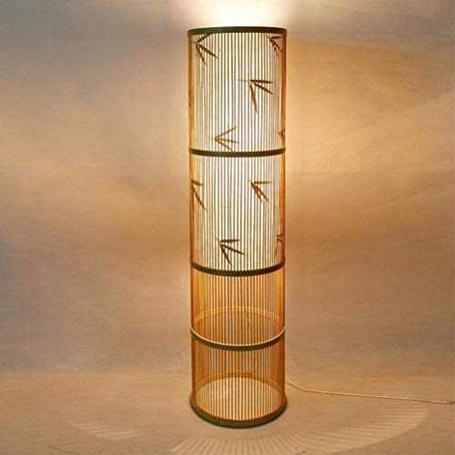 Stehlampe Lámpara de pie LED de bambú japonesa Zen Southeast Asian Salón Madera maciza Hotel Inn 0716LDD
