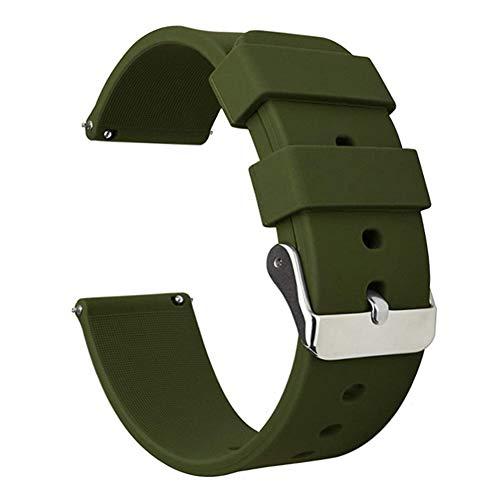 ATIRY ラバーベルト 時計ベルト シリコン 時計バンド 18mm 20mm 22mm 防水時計替えベルト スポーツ Quick Release ゴム腕時計バンド 工具付き