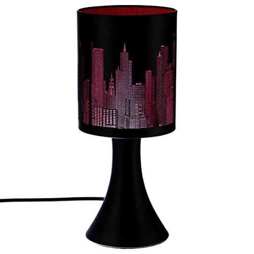 Lampe tactile New york Rose/Noire 3 intensités