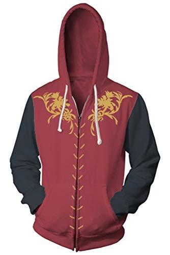 House Stark-Hoodie - Sudadera de invierno para hombre, con capucha, para cosplay, cálida, con cremallera