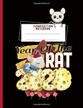Year of the Rat 2020 Composition Notebook: Artistic Chinese Rat with Cheese - Small Writing Note Book, 100 Lined Pages + 8 Blank Sheets (Lunar New Year Gifts Vol 2)