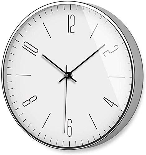 Reloj de Pared, Elegante, Moderno, silencioso, fácil de Leer, números Grandes, Ideal para Sala de Estar, hogar, Dormitorio, Oficina, Simple, Pared, Cuarzo, Reloj de Pared (12 Pulgadas / 30,5