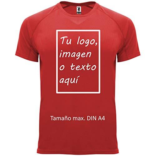 rainUP – Camiseta Técnica Personalizable – Camiseta Deportiva Running Hombre y Niño - Manga Corta – Impresión Directa (DTG) – Puedes añadir tu Frase, Logo o Imagen Personalizada
