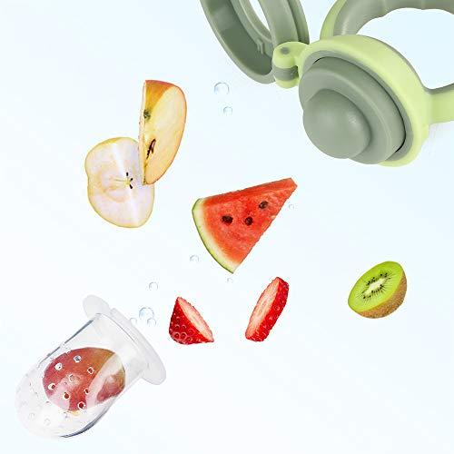 Fruchtsauger Baby Obst Fütterung Babynahrung Rassel Schnuller Spielzeug für Kleinkinder (Junge, 8 stück) - 5