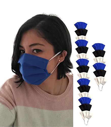 Medical Protection MX- Paquete de 21 Cubrebocas de triple capa, REUTILIZABLES Y LAVABLES. Tapabocas de protección con triple capa de filtración, polipropileno. Paquete de 21...