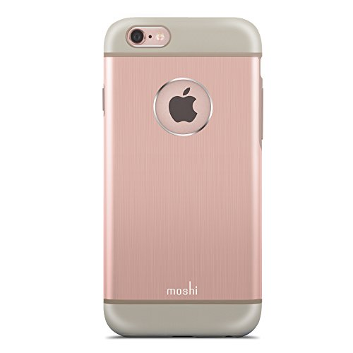 Moshi iGlaze Armour funda para teléfono móvil Oro, Rosa - Fundas para teléfonos móviles (Funda, Apple, iPhone 6/6s, Oro, Rosa)