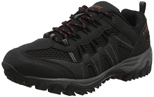 Hi-Tec Jaguar, Zapatillas de Senderismo Hombre, Negro (Black/Picante 21), 45 EU