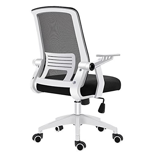 Sedia da ufficio, sedia da scrivania in rete ergonomica, supporto lombare Sedia per computer a dondolo, sedia da ufficio con supporto posteriore, maglia traspirante posteriore e altezza regolabile