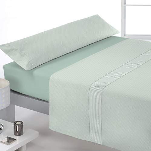 Reig Marti Juego DE SÁBANAS Estampado 3/Piezas Modelo: Seal, Color: 04-Verde, Medida: Cama DE 90x195/200+30cm.