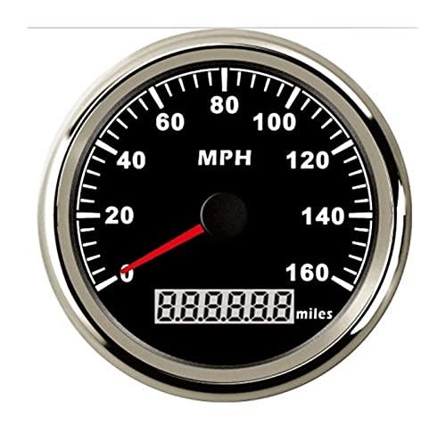 HUILING September Department Store 85mm GPS Odómetro de velocímetro 16 0 mph Ajuste for Auto Marine con retroiluminación roja 12V 24V (Color : BS)