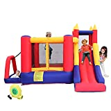 YAYUNLVYIN AIR Bounce House, Jumping Castle with Slide,Inflatable Bouncer with Air Blower, Family Backyard Bouncy Castle, Durable Sewn with Extra Thick Material