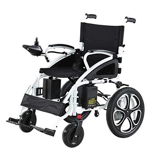 Mimining Elektrische rolstoel, inklapbaar, voor ouderen, fiets, senioren, klein, licht, draagbaar (lithium-accu, 12 A, elektromagnetische rem)
