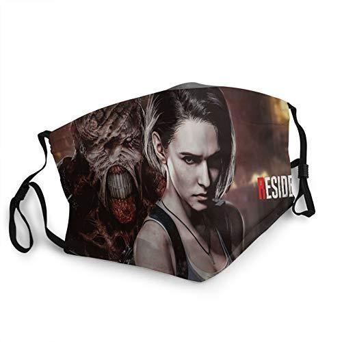 tailored Resident Evil Remake - Máscara de borde negro para adultos, protección facial portátil, bandana, borde elástico, pasamontañas