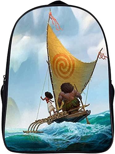 Moana Mochila, mochila escolar, mochila de dibujos animados, mochila para niños, mochila de dibujos animados, transpirable (1,16 pulgadas)