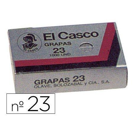 El Casco 136862 - Caja de 1000 grapas galvanizadas Nº 23/6G